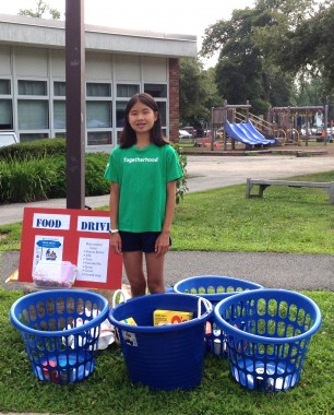 Grace at Camp Food Drive cropped