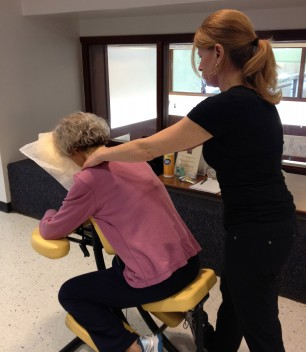 Members had the opportunity to receive a chair massage