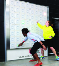 T-Wall: Whether training for power, agility, endurance, flexibility, or reaction, T-wall tests your personal limits and provides cardio benefits.